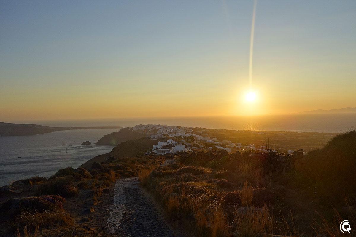 Coucher de soleil sur Oia