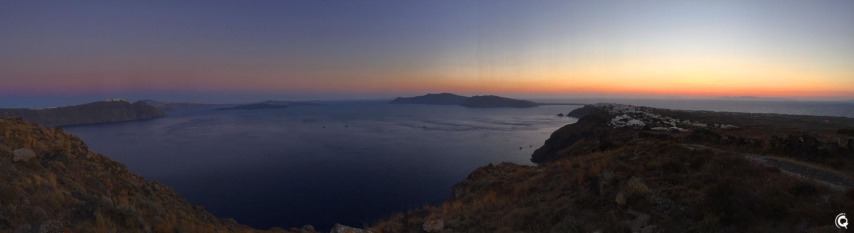 Coucher de soleil sur Santorin