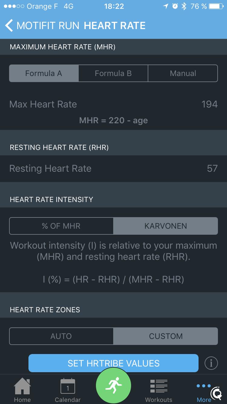 Les règles de calcul des zones de fréquence cardiaque