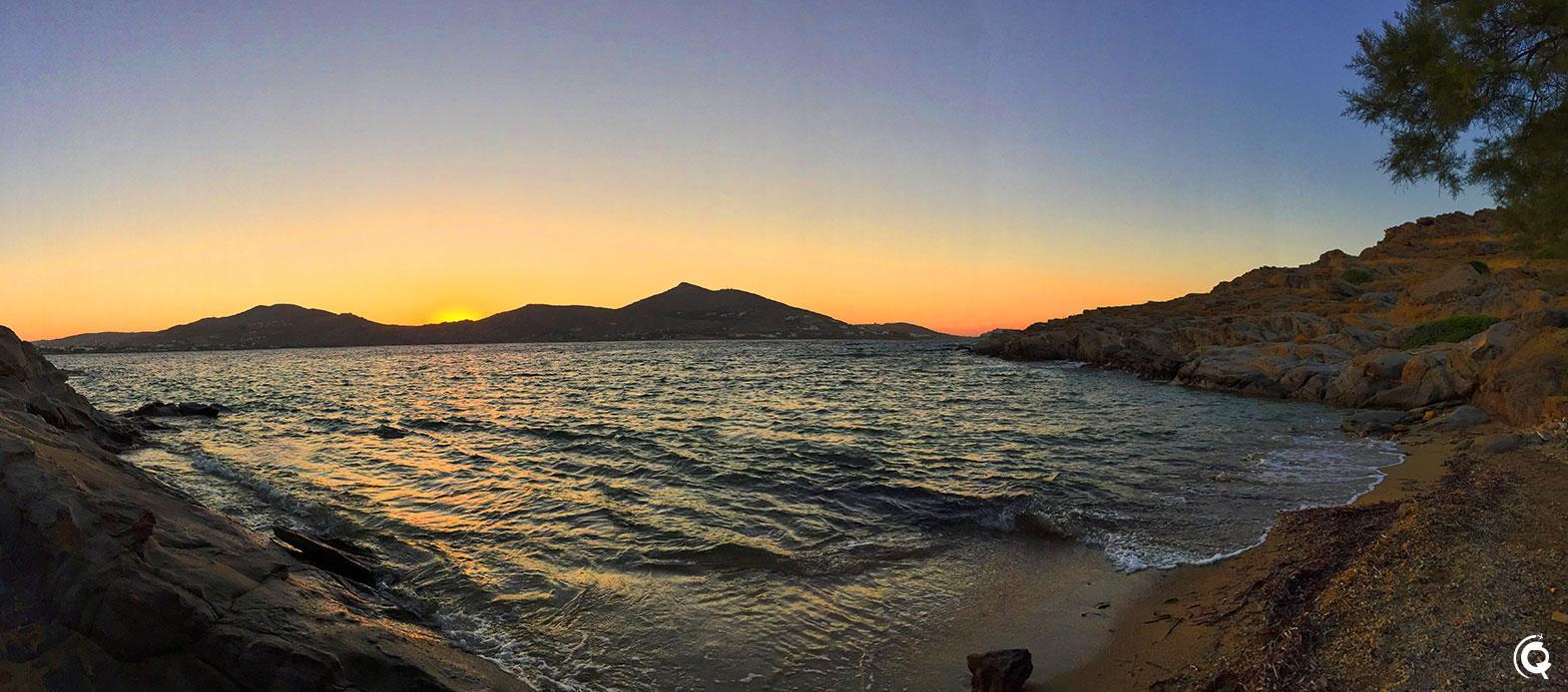 Coucher de soleil sur Paros