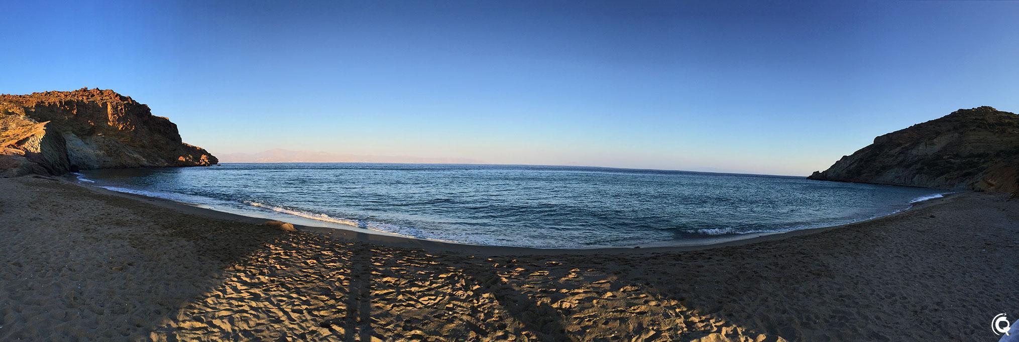 Kalogeros beach, la plage d'argile