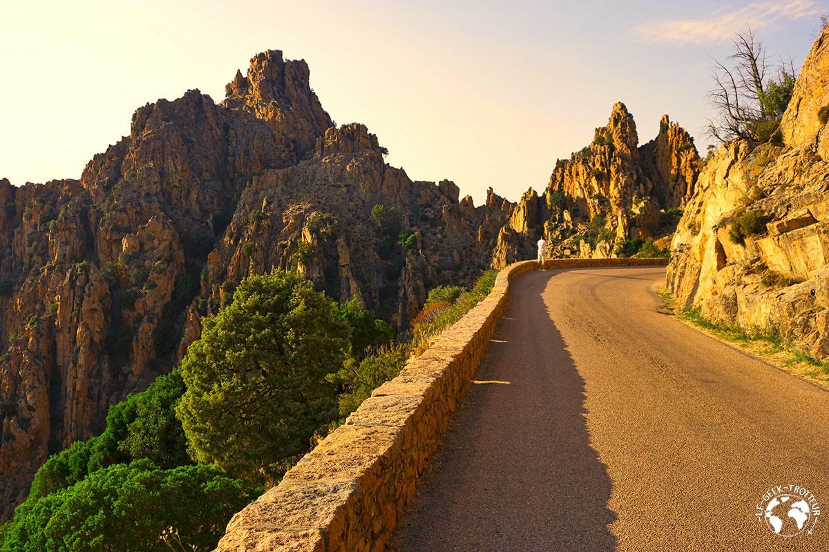 La route des calanques de Piana en Corse