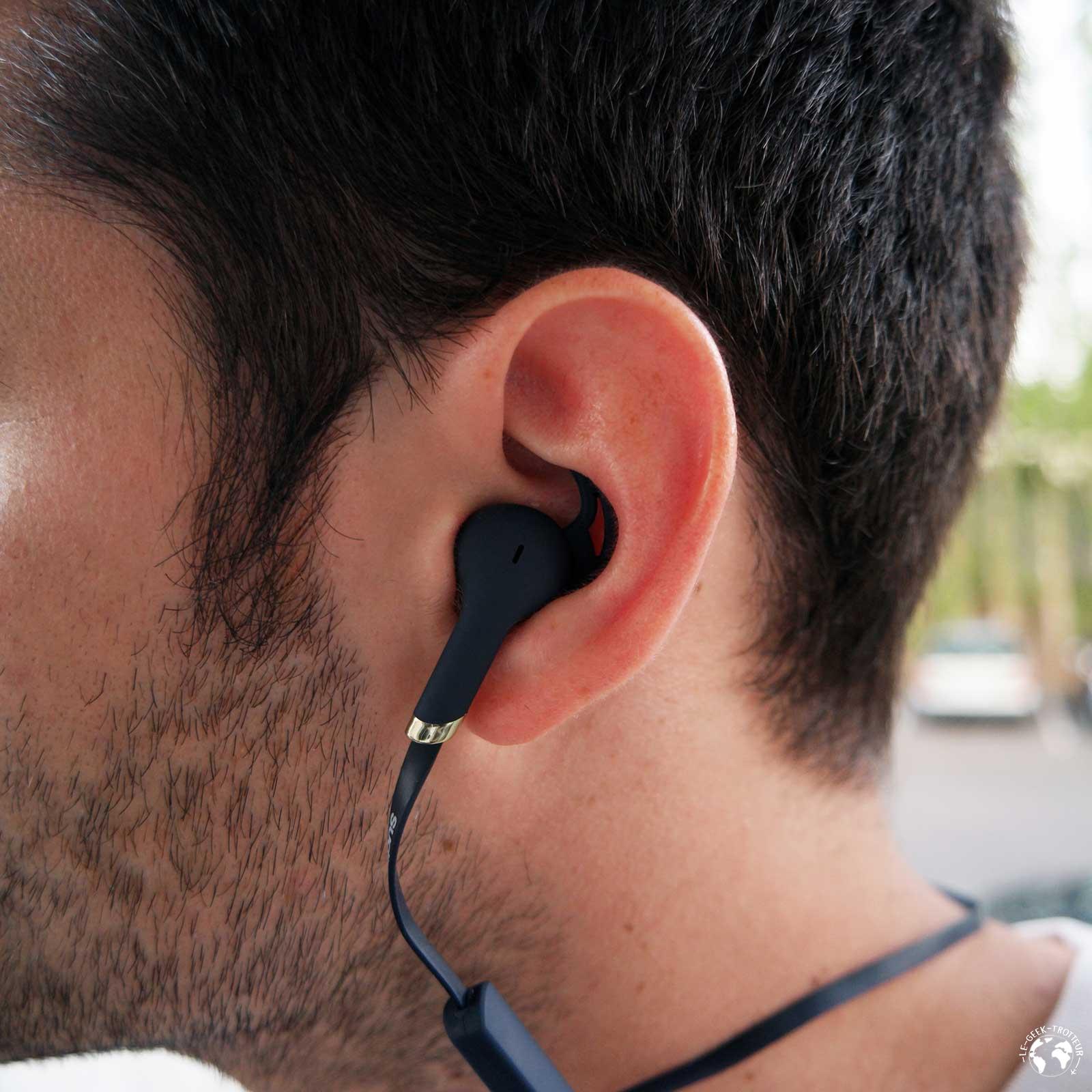 Ecouteurs Bluetooth Sudio Tre bleus