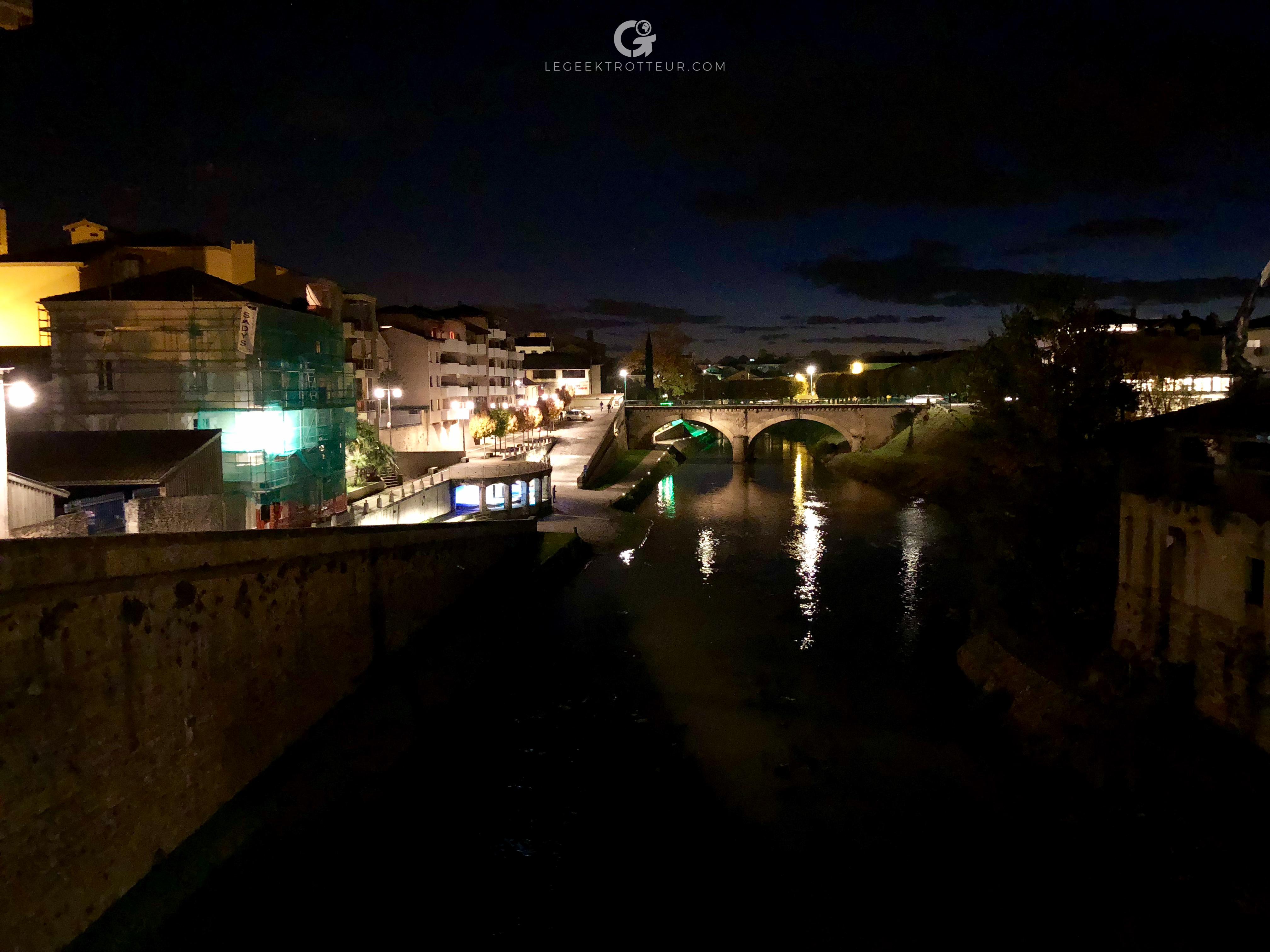 Photo de nuit prise à l'iPhone X