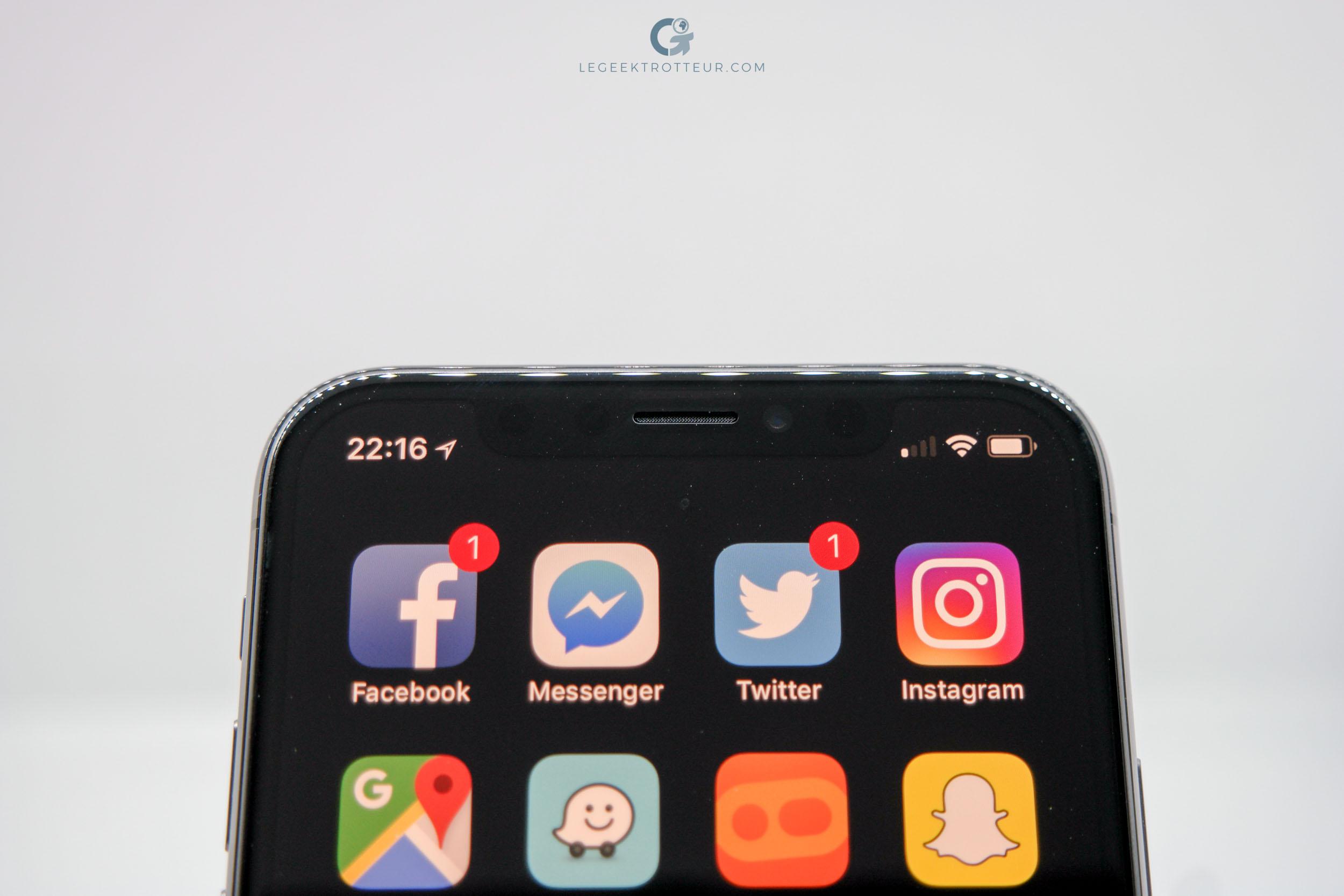 Aperçus des différents capteurs de l'iPhone X