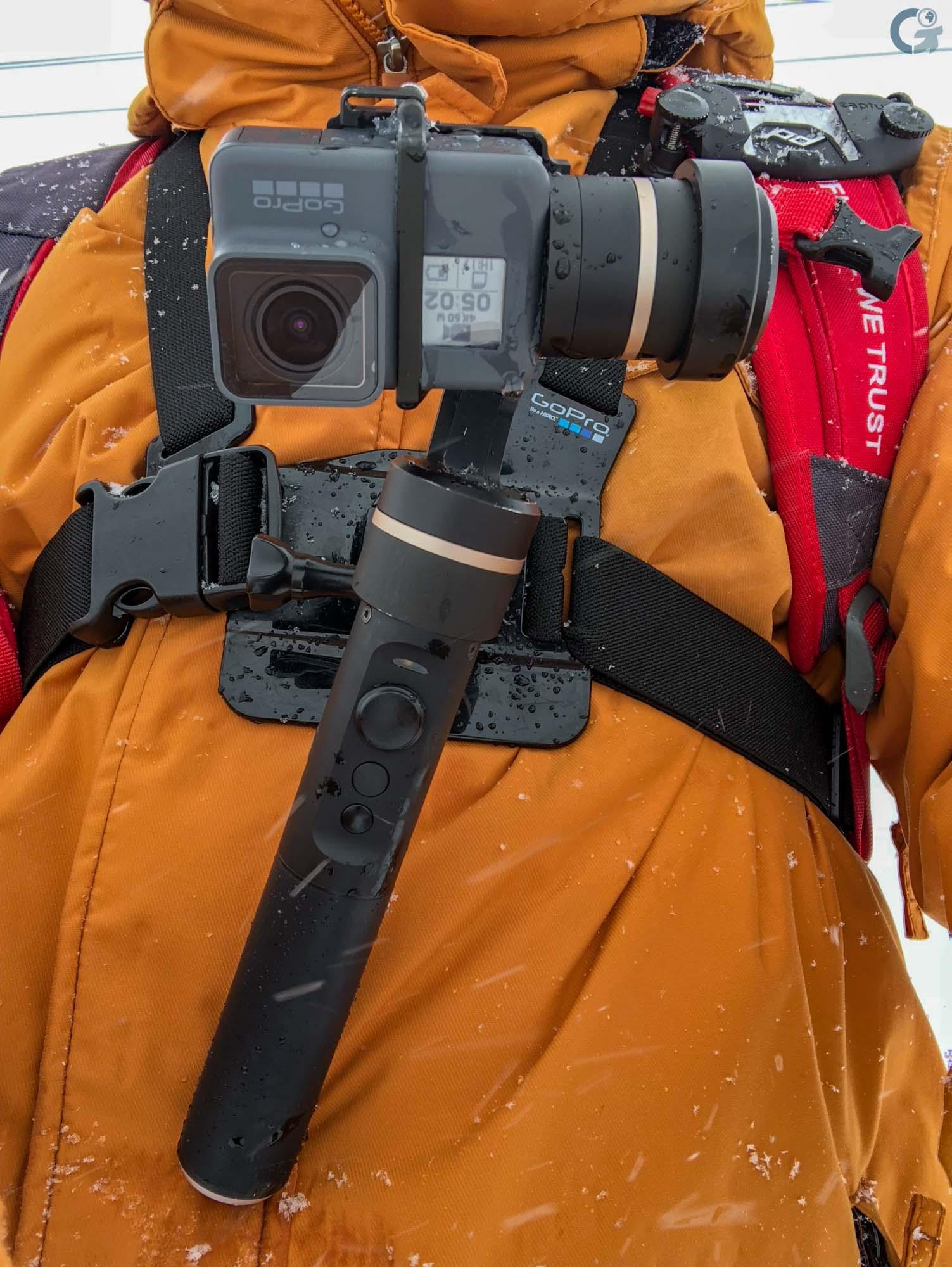 Fixation harnais Feiyu G5 + GoPro Hero6
