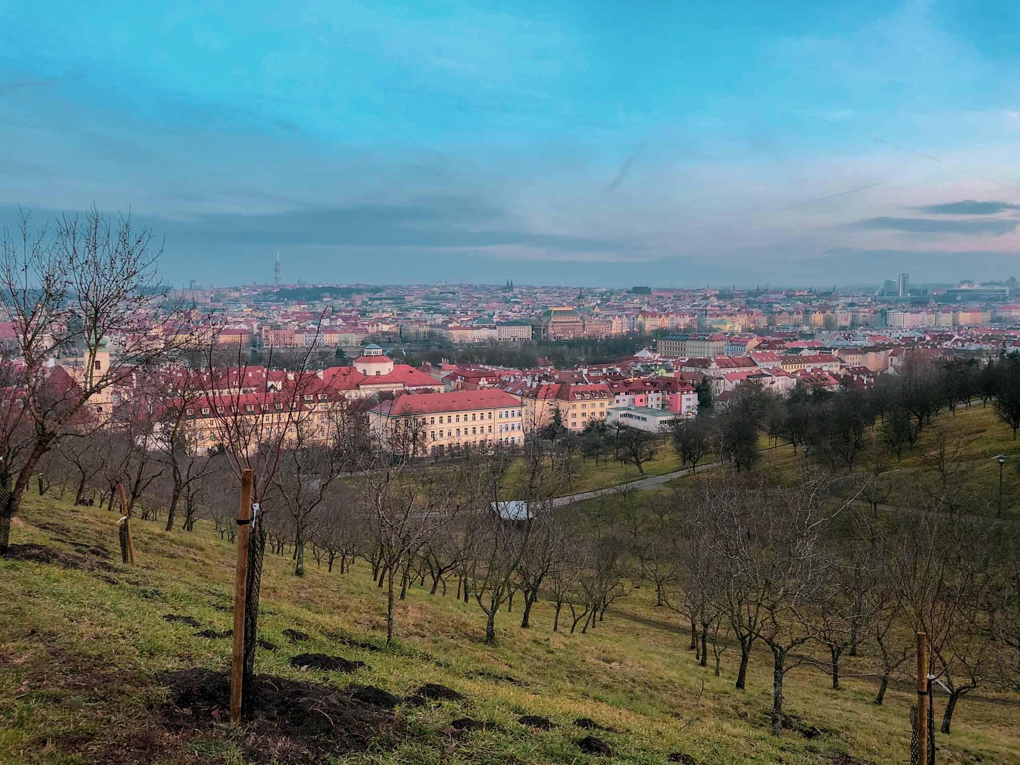 Vue depuis le parc de Petřín