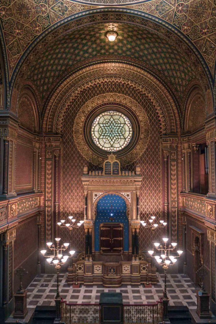 Intérieur de la synagogue espagnole de Prague